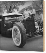 Rat Rod Looker Wood Print