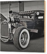 Rat Rod Scene 3 Wood Print