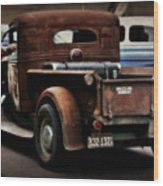 Rat Rod Work Truck Wood Print