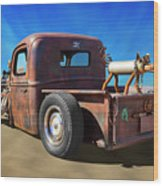 Rat Truck On Beach 2 Wood Print