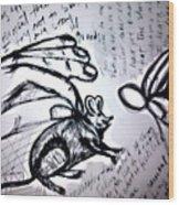Rato De Fino Trato Wood Print