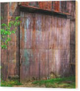 Rats Castle Farm Barn Door Wood Print