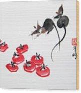 Rats In Raid Wood Print