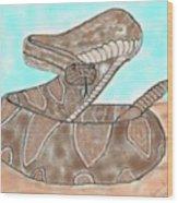 Rattler Wood Print