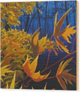 Raucous October Wood Print