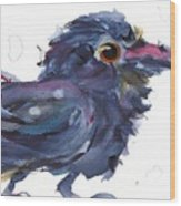 Raven 3 Wood Print