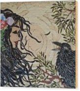 Raven Beauties Wood Print
