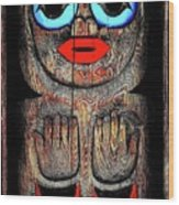 Raven Child Wood Print
