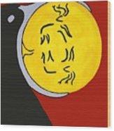 Raven Elk Moon  -013 Wood Print