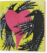 Raven Love Wood Print