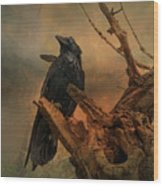 Raven Lover Wood Print