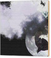 Raven Moon Wood Print