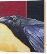 Raven Of The Tomorrow Wings Wood Print
