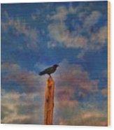 Raven Pole Wood Print