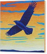 Raven Rising Wood Print
