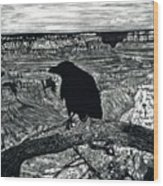 Raven Spirit Wood Print