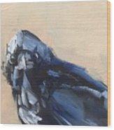 Raven Stare Wood Print