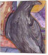 Raven Steals Sunlight Wood Print