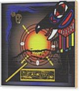 Raven Steals The Sun Wood Print