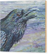 Raven Study 4 Wood Print