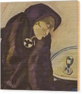 Raven - The Absinthe Drinker Wood Print