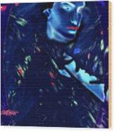 Raven Woman Wood Print