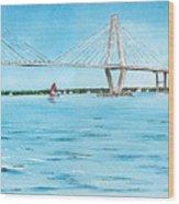 Ravenel Bridge Wood Print