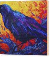 Raven's Echo Wood Print