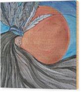 Raven's Hair Wood Print