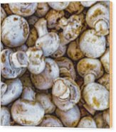 Raw Mushrooms Wood Print