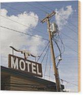 Rawhide Motel Wood Print