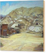 Rawhide Nevada Wood Print by Evelyne Boynton Grierson