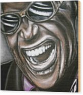 Ray Charles Wood Print by Zach Zwagil