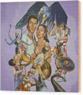 Ray Harryhausen Tribute Seventh Voyage Of Sinbad Wood Print