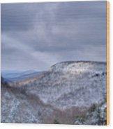 Ray Of Light On Mountain Wood Print