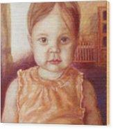 Raylee Ann Wood Print by Rebecca Poole