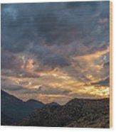 Rays Above Tecate Peak Wood Print