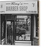 Ray's Barbershop Wood Print