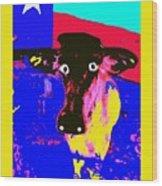 Ray's Cow Wood Print