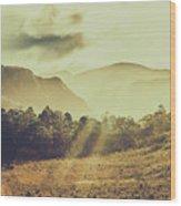 Rays Of Dusk Wood Print