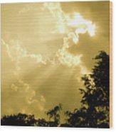 Rays Of Glory Wood Print