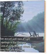Rays Of Light - Place To Ponder Wood Print