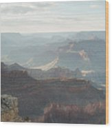 Rays Of The Grand Canyon Wood Print