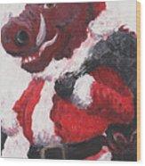 Razorback Santa Wood Print