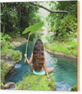 Reach Falls River Wood Print