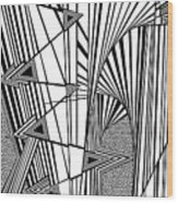 Reaching Wood Print