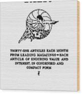 Readers Digest, 1922 Wood Print