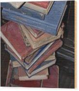 Reading Books Wood Print