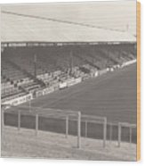 Reading - Elm Park - Norfolk Road Stand 3 - Bw - 1970 Wood Print