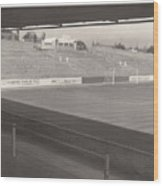 Reading - Elm Park - Reading End 1 - Bw - 1968 Wood Print
